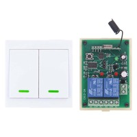 DC 12V 24V 2 CH 2CH RF Wireless Remote Control Switch Receiver 86 Wall Panel Transmitter