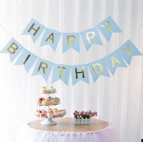 Paper Bunting Garland Banners Flags Happy Birthday Banner Boy Girl Baby Shower Decoration Wedding Birthday Party Supplies Decor