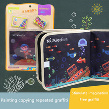 Color graffiti board Children's chalk drawing bag Portable writing small drawing board Children Educational Writting Drawing Toy