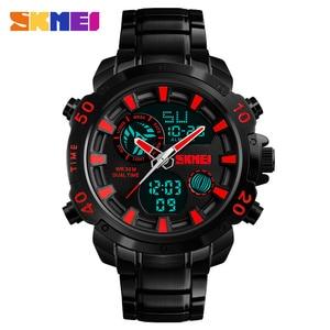 Image 2 - SKMEI Luxe Merk Heren Horloges Analoge Digitale Sport Quartz Horloge Mannen Militaire Waterdicht Klok Dual Tijd Casual Polshorloge