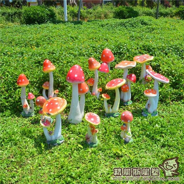 Simulaci n setas decoraciones caseras pastorales adornos for Adornos metalicos para jardin