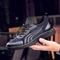 2017 Nueva Marca de Alta Calidad Primavera Otoño Hombres de La Manera Causal Zapatos Transpirables Zapatos Luz Para Caminar Trotar Slipony Canasta Femme