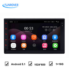 "Full touch QuadCore 7"" Double din android universal 2Din Android 5.1 Car GPS Universal 7inch car multimedia player Stereo 2 din"