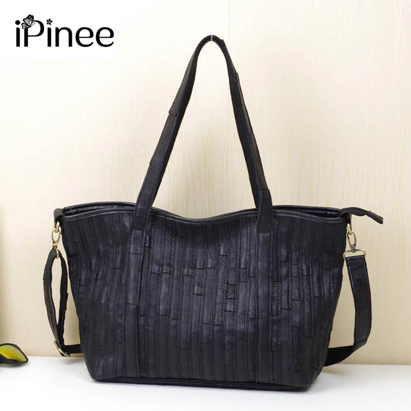 iPinee New 2017 Fashion Brand Genuine leather Women Handbag Europe and America Cow Leather Shoulder Bag Casual Women Bag 2016 new styles of leather and fashion in europe and america