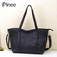 iPinee New 2017 Fashion Brand Genuine leather Women Handbag Europe and America Cow Leather Shoulder Bag Casual Women Bag