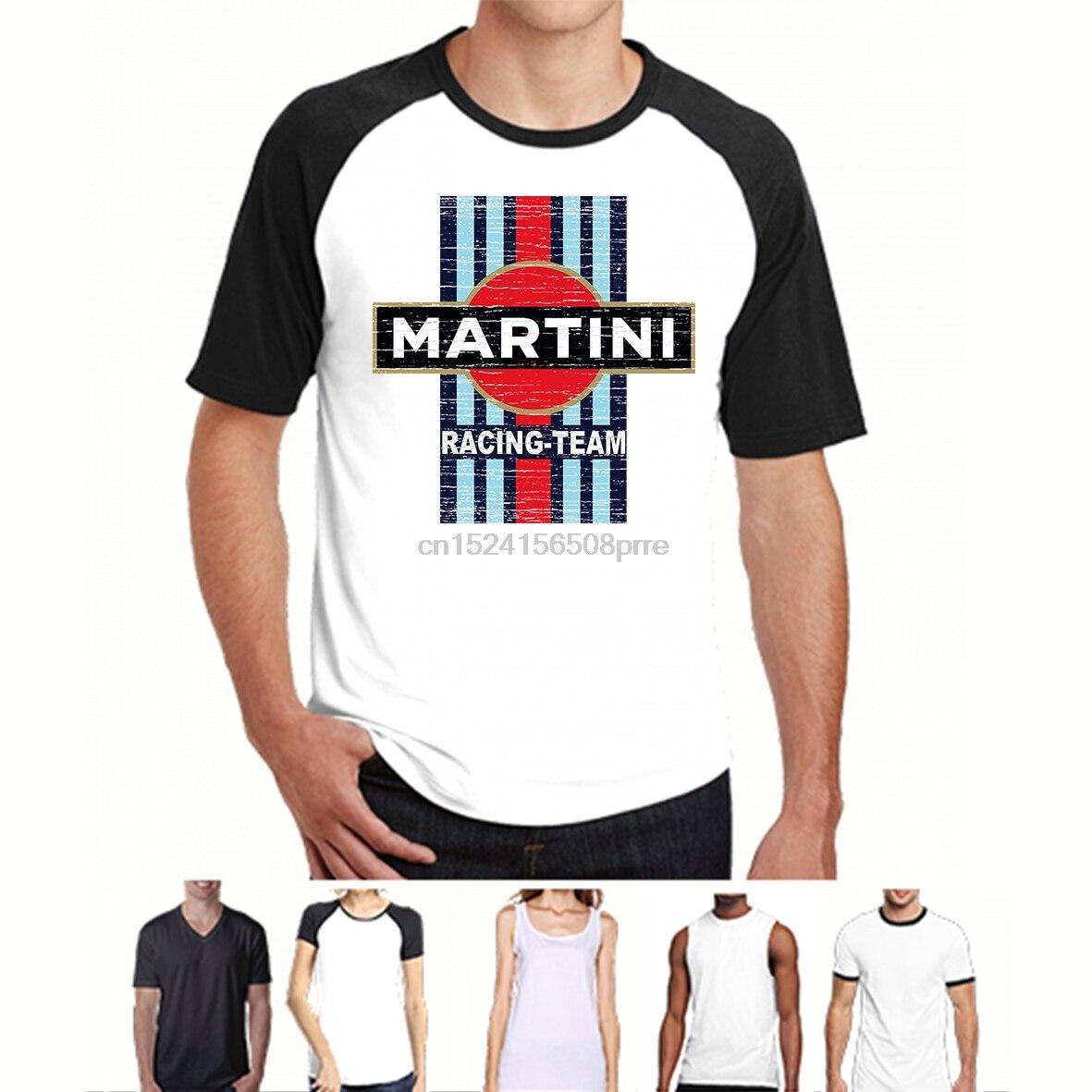 100% Cotton O-neck Custom Printed T-shirt Classic Car Vintage Martini Racing Women Tshirts