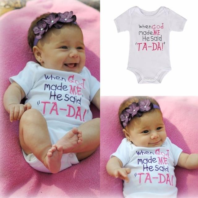 da70be4ec Newborn Baby Boys Girls Letter Print Bodysuits Onesie Infant Babies  Playsuit Cute Cotton Bodysuit Outfit Clothing 0-24M