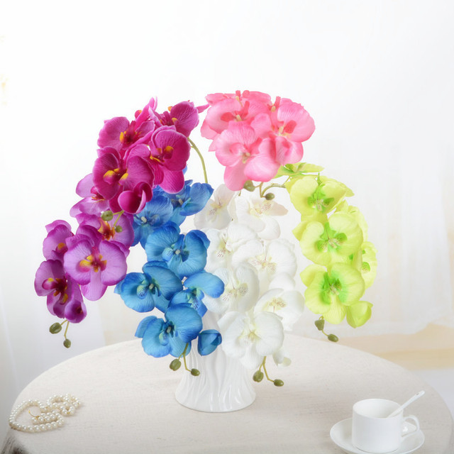 1pcs Fashion Butterfly Orchid Artificial Flowers Party Home Decor Wedding Decoration  Accessories Fake Phalaenopsis Flower 52017