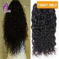8a Malaio onda de água do cabelo humano molhado e ondulado 3 pacotes onda de água do cabelo virgem malaio cor natural onda natural do cabelo trama