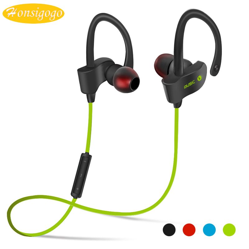 Honsigogo Sport Wireless Bluetooth Earphones Stereo Bass Earpieces Ear Hook Earbuds with Mic for xiaomi samsung iphone