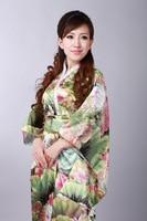 Shanghai Story Vintage Japanese Style Dress Japan Women's Faux Silk Satin Kimono Yukata Evening Dress