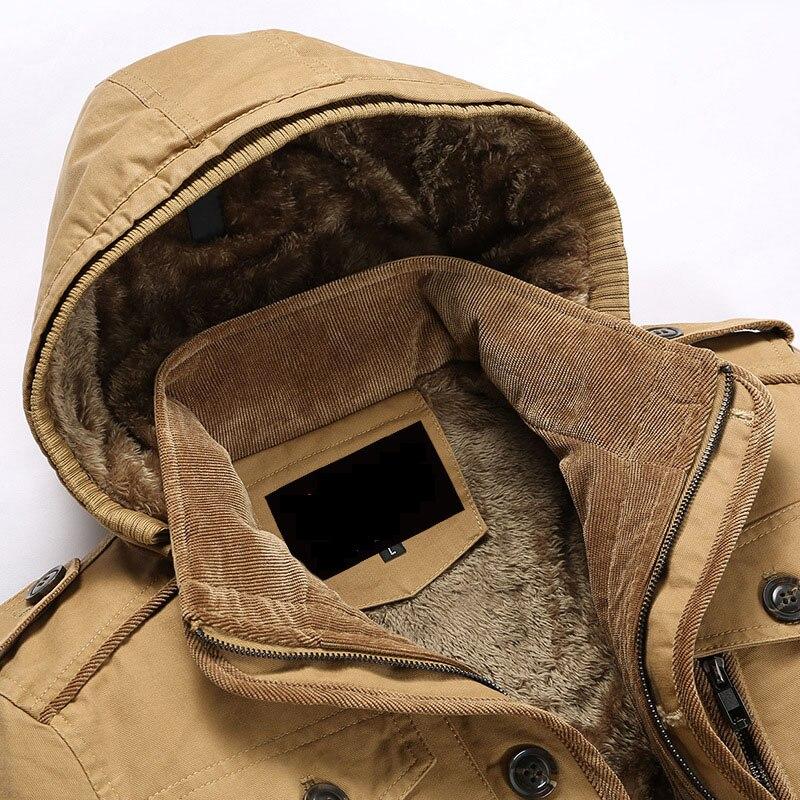 Unique navy khaki beige Tranchée Crête Manteau Poitrine Vestes 6xl green Amovible Hiver Coton 5xl Hommes Coq Survêtement Plus Doublure La Chaud Polaire De Taille Black Capuche vN80wmnO