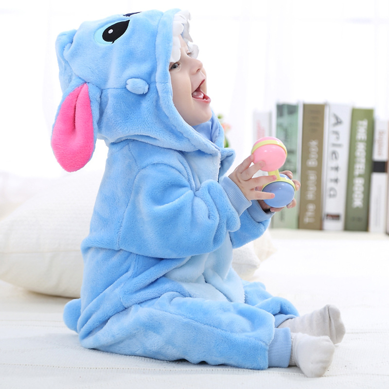 IDGIRL-Baby-Clothes-2017-Infant-Romper-Baby-Boys-Girls-Jumpsuit-New-born-Bebe-Clothing-Hooded-Toddler-Cute-Stitch-Baby-Costumes-1