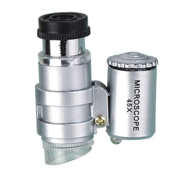 45x High Power Porcket Microscope illuminated magnifier magnifying glass loupe with Lamp MG10081-445x High Power Porcket Microscope illuminated magnifier magnifying glass loupe with Lamp MG10081-4