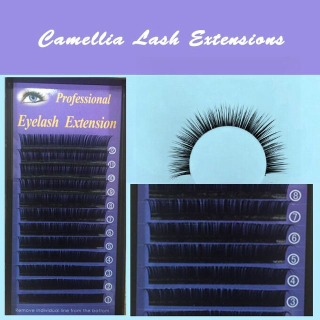 1d73329b3fc Free shippping individual new camellia eyelash extension 5 trays each lot , All  size available: J.B,C,D 9-15mm