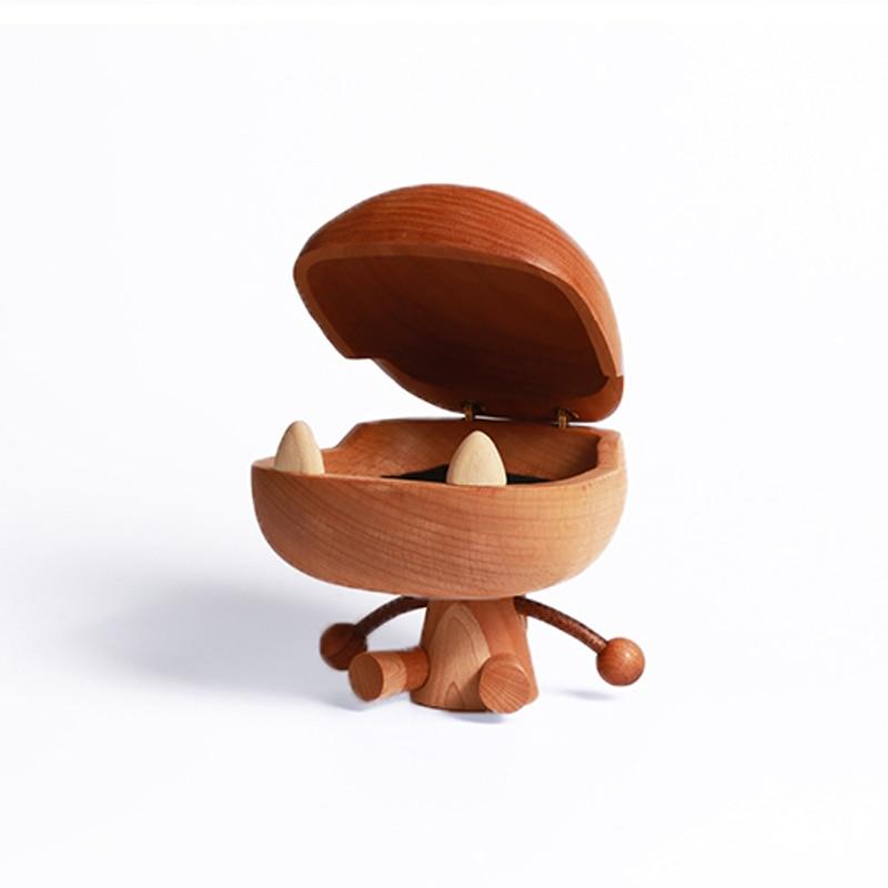 Grande bouche en bois Dragon hêtre bois Art jouet cadeau d'anniversaire Original conçu décoration chêne dessin animé Dragon - 5