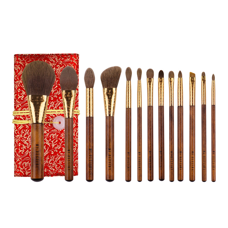 MyDestiny Luxurious Traditional Brush Set 13 Brushes Super Soft Autralian Squirrel Hair Face Eye Brushes Beauty