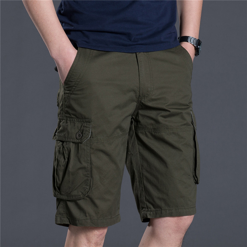 Mens Military Cargo Shorts New 2018 Brand Army Camouflage Shorts Men Cotton Loose Work Casual Short Pants Plus Size 38