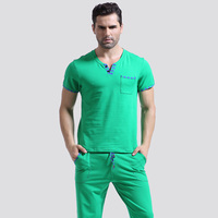 Men t shirt cotton pajama set sleepwear sleep bottoms long pants pajama tees undershirts tshirts brand.jpg 200x200