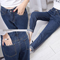 Loose Harem Pants Fahsion High Waist Cropped Jeans Solid Washed Color Denim Pantalones Casual Style Capri Women Trousers S-XL