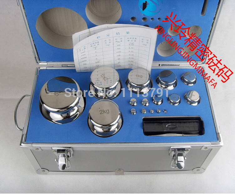 M1 Grade 28 pcs 1mg 5kg Stainless Steel Digital Scale Calibration Weights Kit Set w Certificate