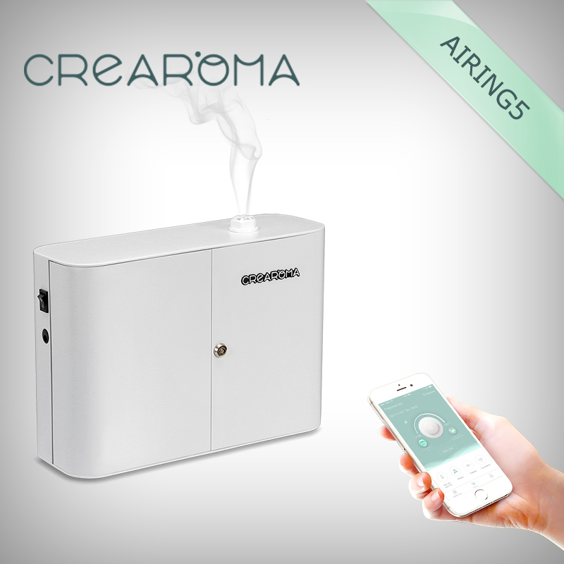 Crearoma automatic scent solutions system electric scent diffuser machine with WiFi APP crearoma small area scent diffuser system for wholesale
