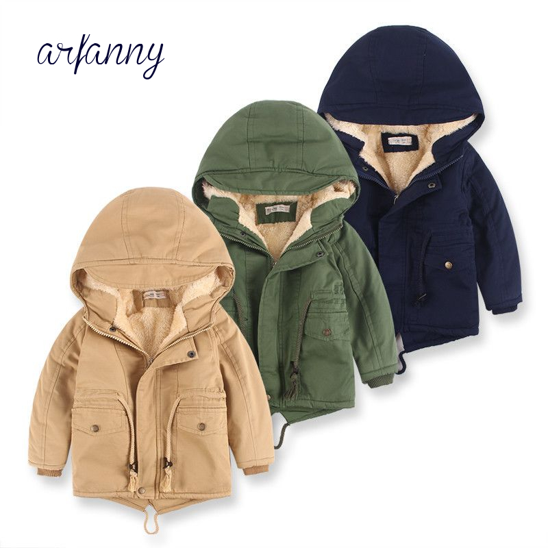 Boys Jackets Coats Winter Kids Coat Cotton soft Baby Boys Jacket Thick Warm Plus velvet Autumn Outwear 2-8 years old children high quality new winter jacket parka women winter coat women warm outwear thick cotton padded short jackets coat plus size 5l41