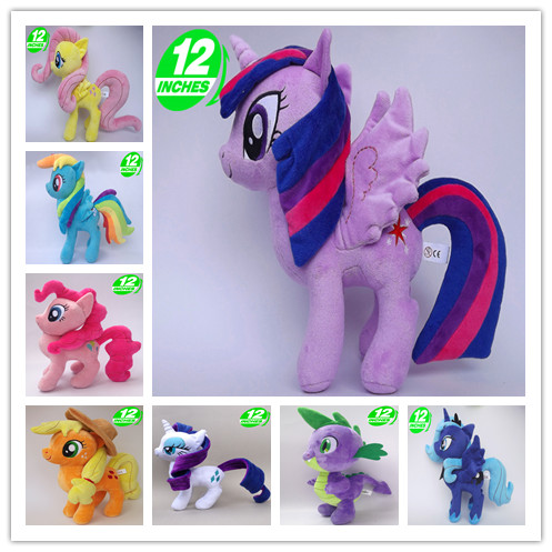Unicorn Pets Horse Princess Celestia Princess Luna Rarity Kunai Soft Plush Toys Animal Doll Christmas Little Gift universal brake master cylinder levers 7 8 22mm motorcycle brake clutch master cylinder reservoir levers set black new