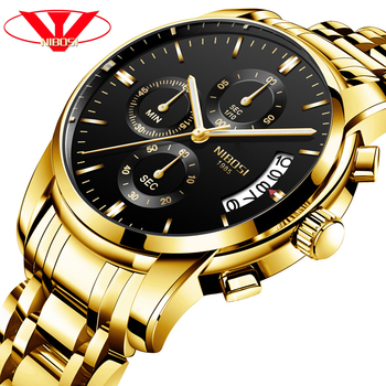NIBOSI Luxury Business Men Quartz Watches Luminous Waterproof Military Sport Watch Male Wristwatches Relogio Masculino 2019
