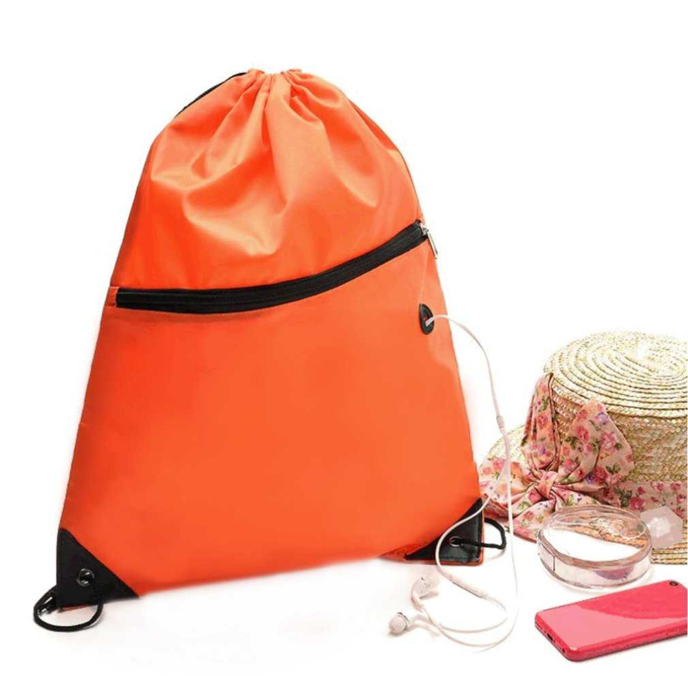 46x40cm Waterproof Gym Storage Bag Sports Drawstring Belt Riding Backpack Shoes Container Bag Clothes Organizer with Zipper
