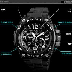 Image 4 - 2018 Skmei Lüks Marka Erkek Spor Saatler Dalış 50 m Dijital LED Askeri İzle Erkekler Casual Elektronik Saatı Relojes