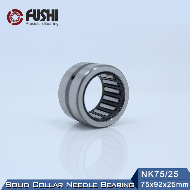 NK75/25 Bearing 75*92*25 mm ( 1 PC ) Solid Collar Needle Roller Bearings Without Inner Ring NK75/25 NK7525 Bearing nk25 30 needle roller bearing without inner ring size 25 33 30mm