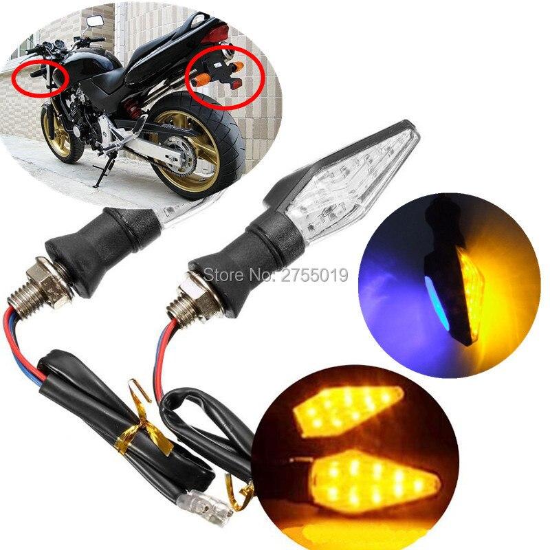 2 Pcs 12v Fashion Sharp Motorcycle Led Daytime Running Lights Turn Signal Light Drl Motorcycle 3