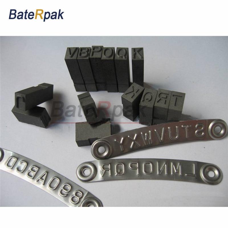 Удар стальной характер BateRpak гибкий высокое качество ручка штамп удар,комбинация Тип штемпелевать металла умирает сталь кодовое слово пунш