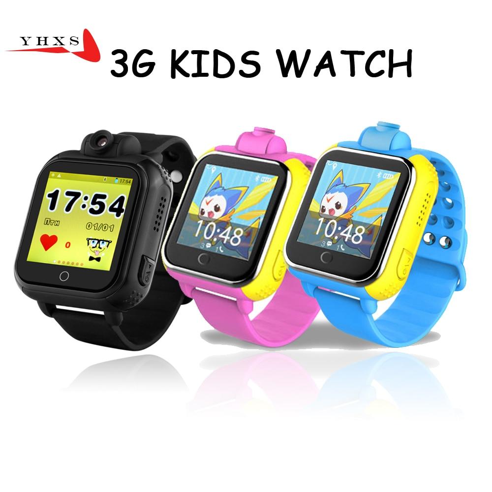 720P Smart Safe 3G WCDMA Remote Camera GPS WIFI Location Tracker SOS Monitor Child Elder Kids Watch Wristwatch 1.54 Touch Screen