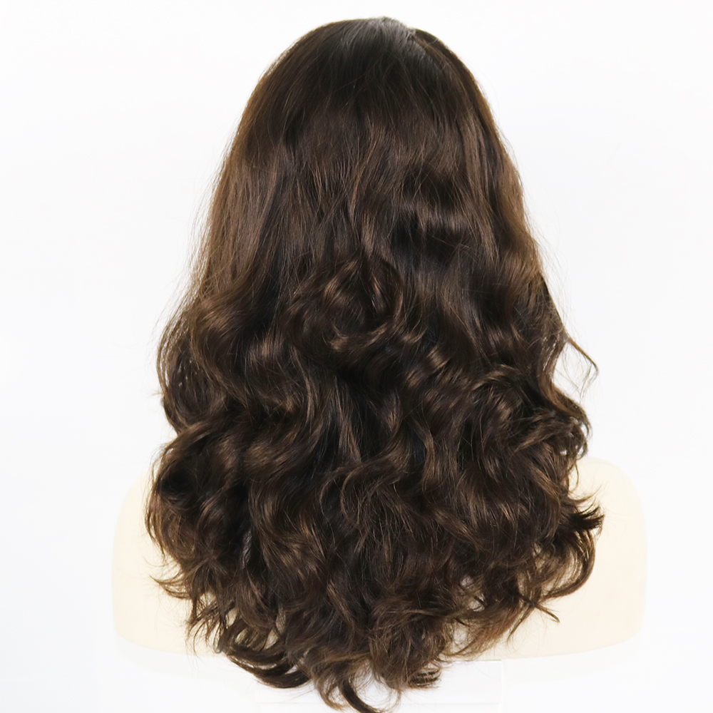 Eversilky 10 Inches to 30 Inches Wavy Kosher Wigs Raw Russian Human Hair Shevy Cap Jewish