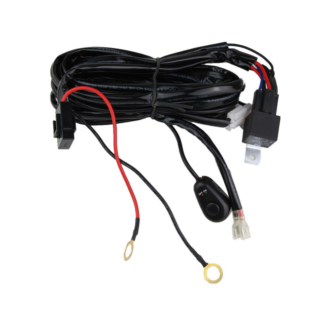 universal led work light bar wiring harness set wiring kit 14v 40a strobe light wiring kit universal led work light bar wiring harness set wiring kit 14v 40a (one wiring