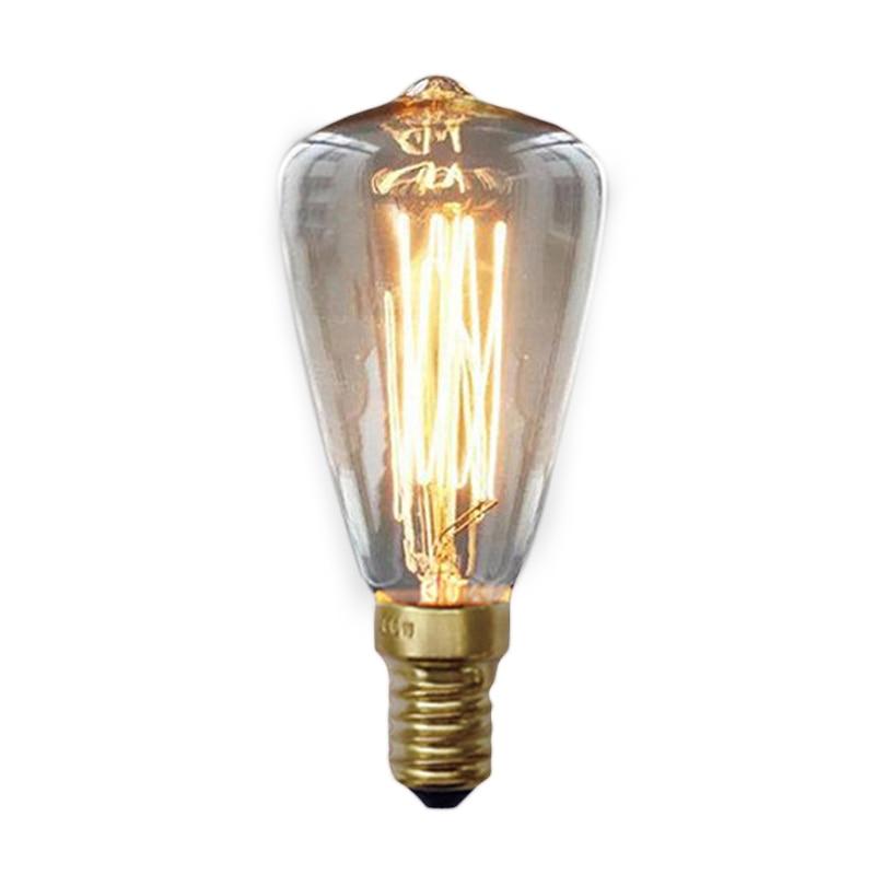 Big sales Vintage Edison Bulbs E14 220V ST48 Incandescent Bulbs 25W 40W 60W Filament Retro Edison Light For Pendant Lamp