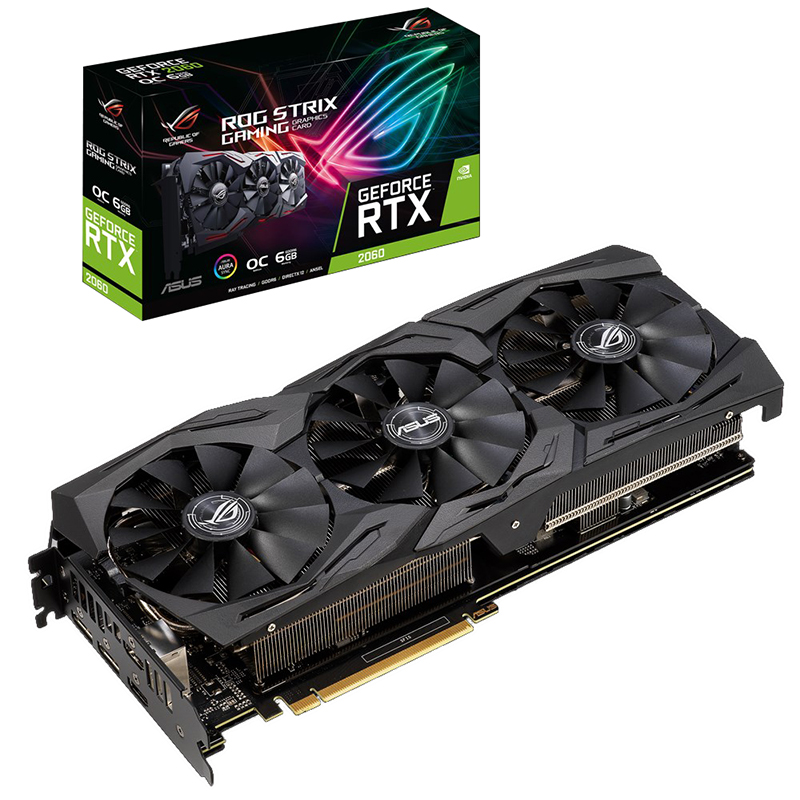 Asus ROG-STRIX-RTX 2060-A6G-GAMING Computer Game Graphics Card Support 4 Screen Output
