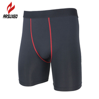 ARSUXEO Compression Tights Base Layer Underwear Men S Breathable Bike Cycling Shorts Running Football Fitness Athletic