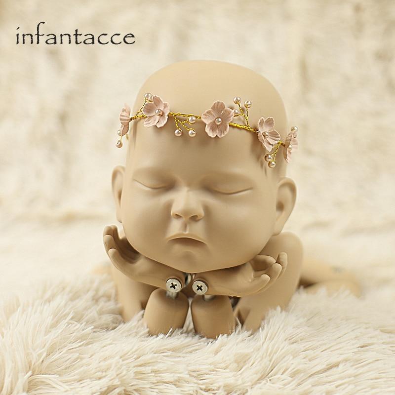 Opaska niemowlęca, Opaski dla noworodka, Flower Girl, Niemowlę, - Odzież dla niemowląt - Zdjęcie 1