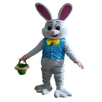 NEW Sell Like Hot Cakes Professional Easter Bunny Mascot cosplay costume Bugs Rabbit Hare Easter Adult Mascot