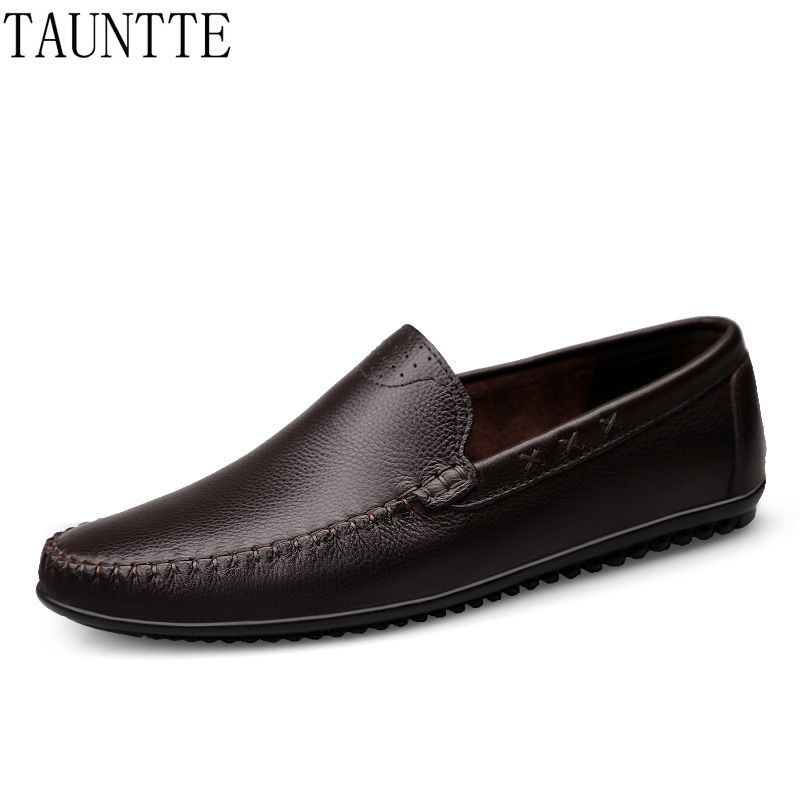 Plus Size Genuine Leather Loafers Men Soft Leather Casual Shoes Fashion Casual Driving Shoes цена и фото