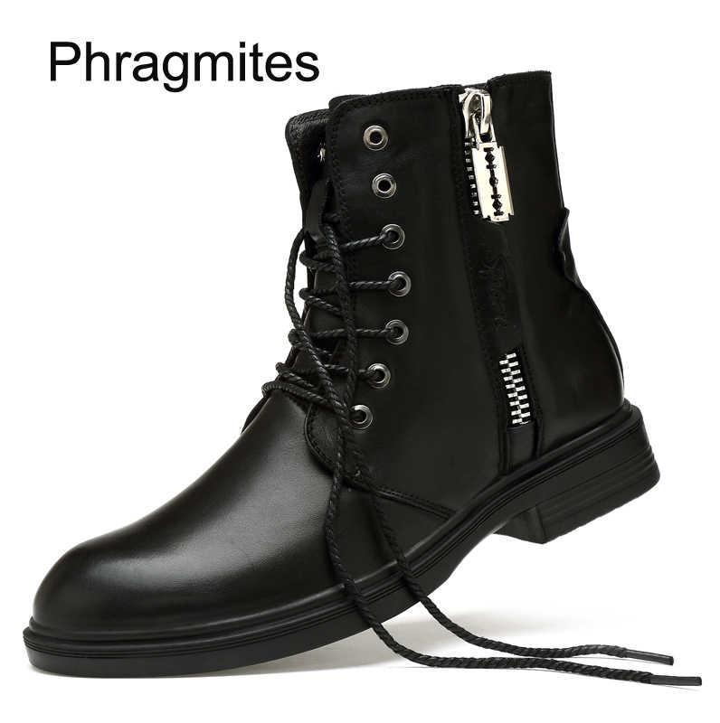 Phragmites Top Merk Bedrijf Laarzen Puntschoen Motorlaarzen Klassieke Groothandel Winter Schoenen Mannen Echt Lederen Laarzen