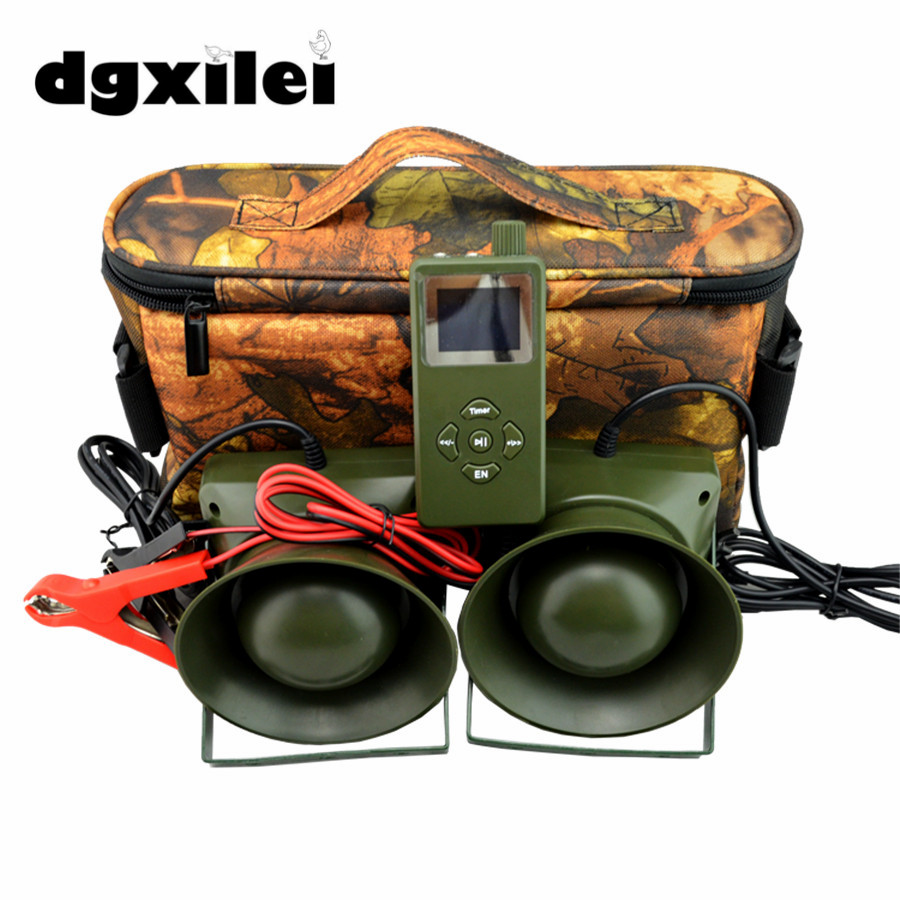 2pcs 60W speaker Hunting Bird Sound Mp3 player goose duck sounds caller hunting decoy 2016 new cp 390 outdoor hunting birds caller hunting mp3 player 35w loud speaker decoy built in 110 sounds 130db bird sounds