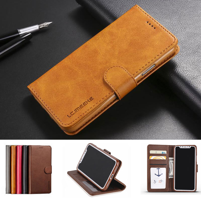 Flip Phone Cases For Iphone 6 6S 7 8 Plus Leather Case Iphone 5 5S SE X Cover Luxury Magnetic Switch Phone Coque