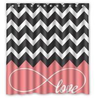 Love Infinity Forever Love Symbol Custom Bathroom Curtain Shower Waterproof Bathroom Shower Curtain Polyester Fabric 60