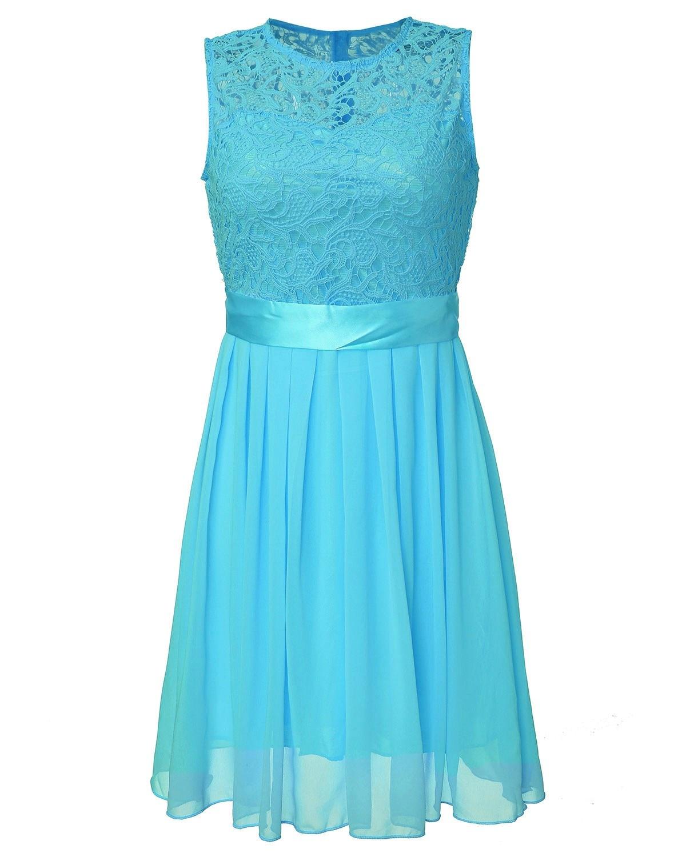 ZANZEA 2018 Women Summer Lace Party Dress Sleeveless Elegant Chiffon ...