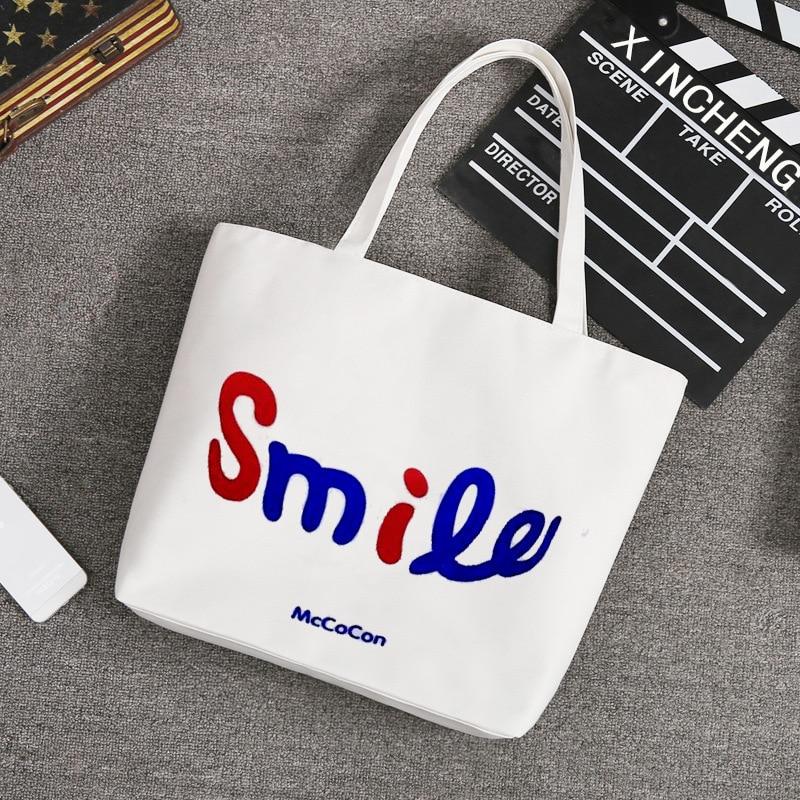 ФОТО Urban Youth Fashion Single Shoulder Canvas Tote Bags Women Shopping Beach Bags
