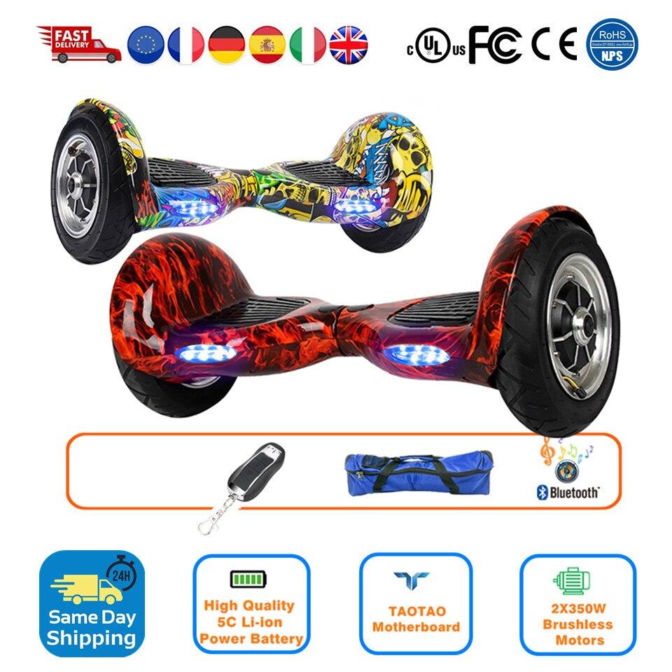 Smart balancier 10 Hoverboard Trike Dérive Roues trottinette auto-équilibrée Gyroscooter trottinette électrique Russie Entrepôt